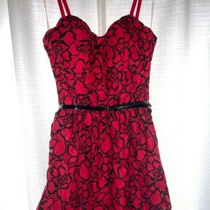 🌸 Lily Rose Red Rose Dress